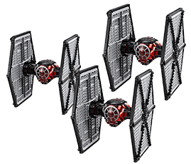 An image of an imperial fighter flying in