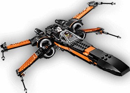 An image of a rebel fighter flying in