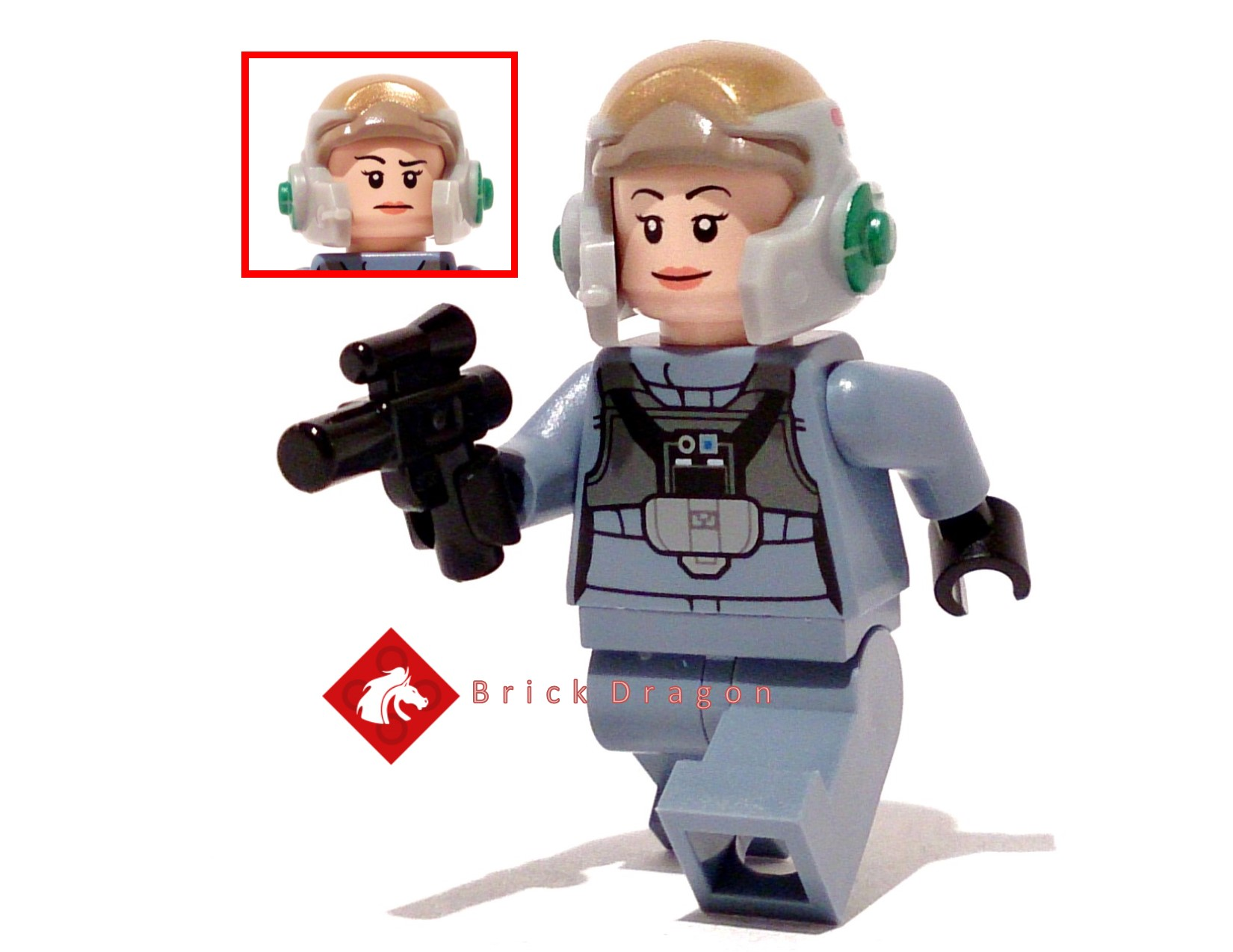 LEGO® STAR WARS™ REBELS 75150 A WING PILOT™ Minifigure Helmet and Blaster