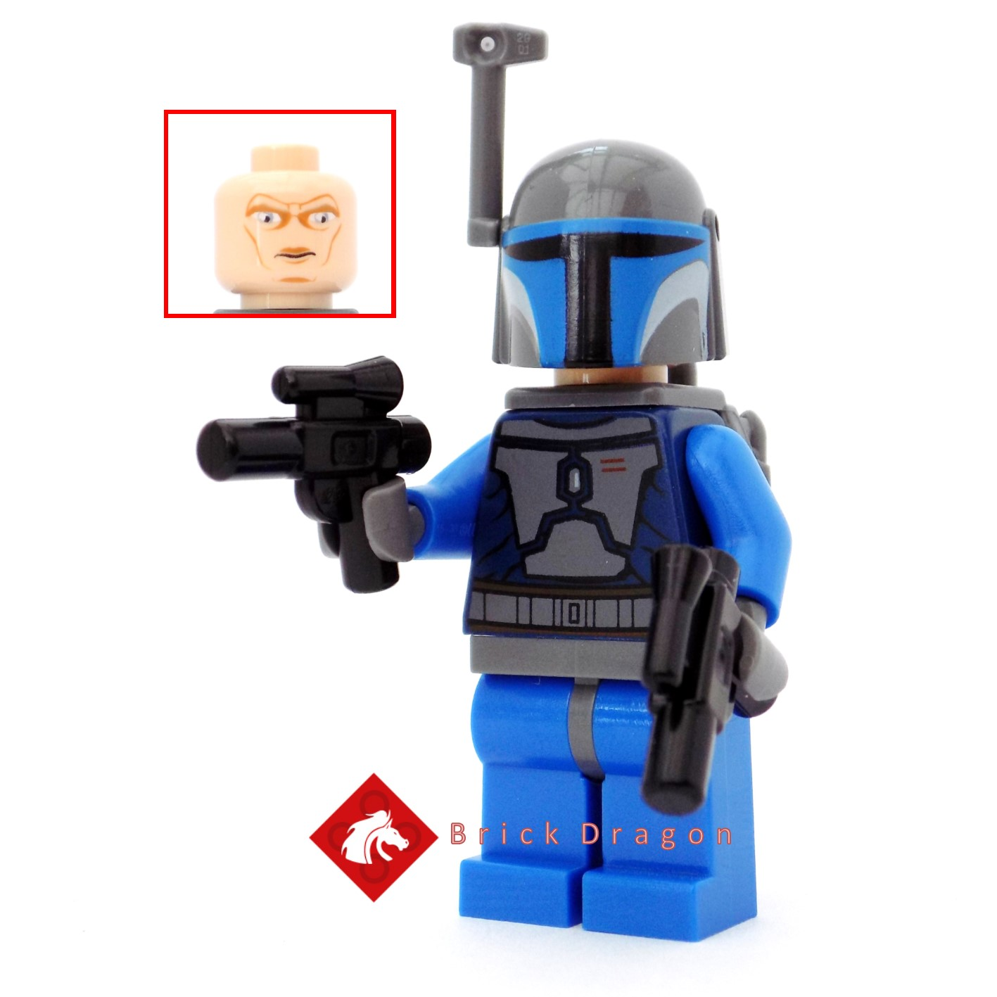 Lego Star Wars minifigure SW0296 Mandalorian with short blaster and jetpack