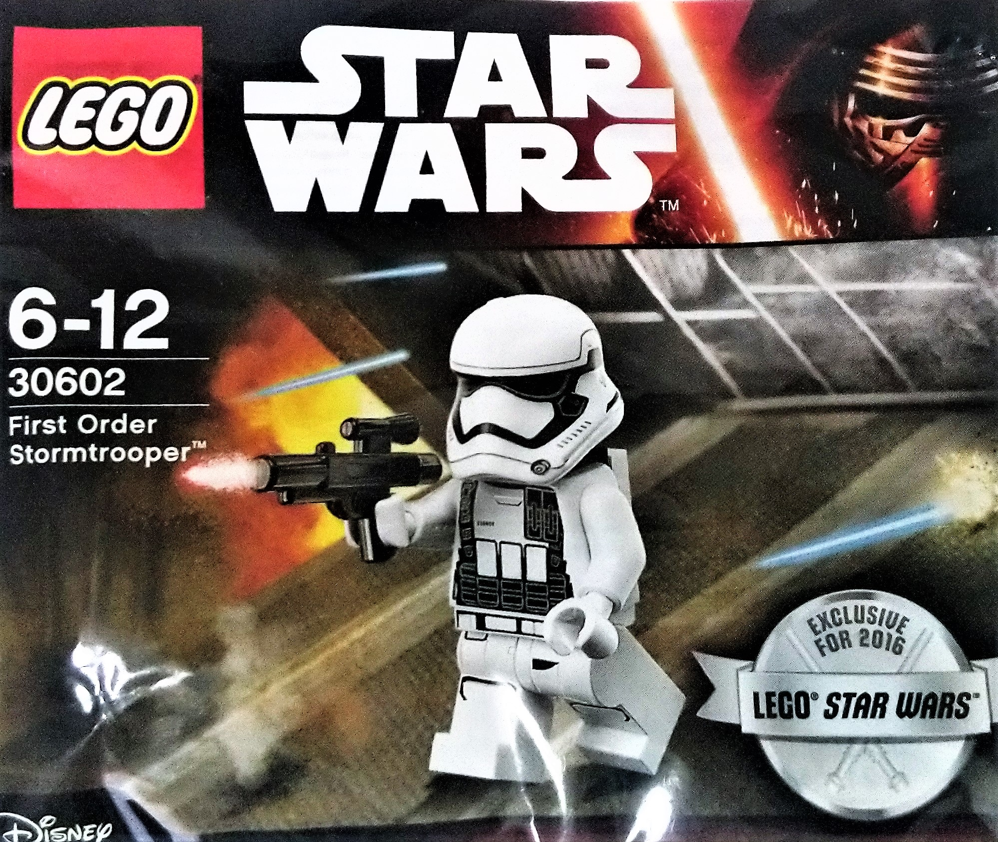 Lego First Order Heavy Assault Stormtrooper 30602 Polybag Minifigure New Sealed